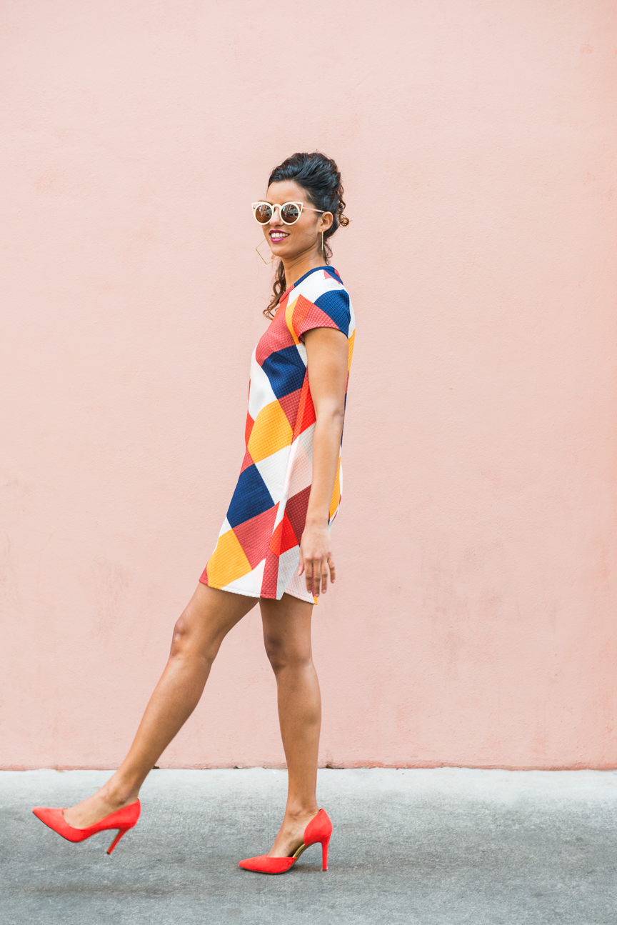 Color Stories | Colorful Spring Fashion | Colorful Outfit Ideas | Colorful Spring Outfits | Colorful Outfits for Women | Bold Colorful Outfit | Geometric Outfit | Pink | Blue | Orange | Fun Sunglasses | Personal Style | Spring Fashion Trends | Street Style | Savannah, GA | Dollface by Jules | Paprika Southern