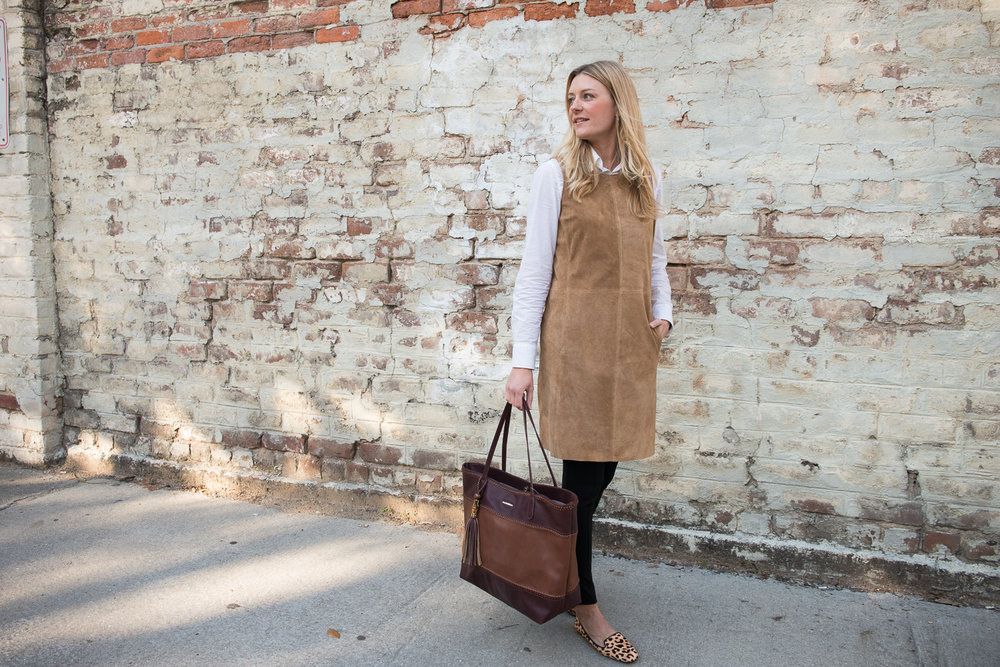 One Dress, Three Ways | Spring Outfit Ideas | Professional Outfit Ideas | Work Outfits | Personal Style | Spring Style | Spring Outfits for Women | Work Outfits for Women | Neutral Outfit Ideas | How to Style a Neutral Dress | Kara Bettie | Paprika Southern