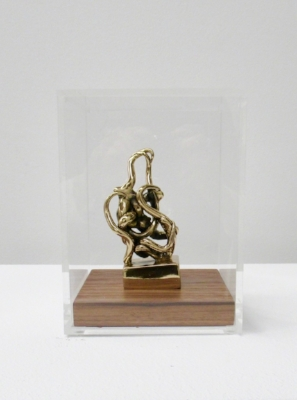 Infinitude High-Polished Bronze, Walnut, and Acrylic 7 1/2 × 5 1/2 × 5 1/2 in; 19.1 × 14 × 14 cm Infinitude Edition 2017