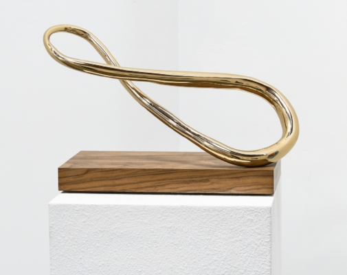 Infinity High-Polished Bronze and Walnut Wood 11 × 21 × 8 in; 27.9 × 53.3 × 20.3 cm Infinity Edition 2017