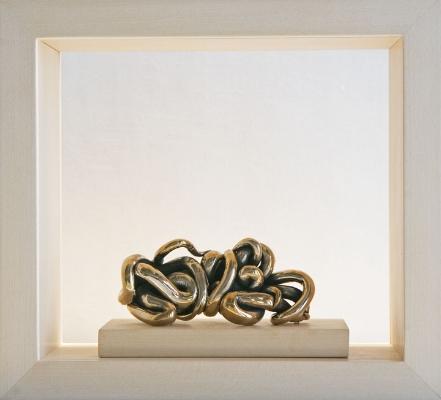"""Cora Bronze Inside a Unique Box 8"""" x 8"""" Lexicon Studies 2006"""