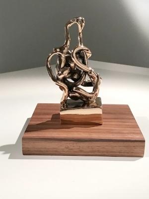 Infinitude 6 High-Polished Bronze, Walnut and Acrylic 7 1/2 × 5 1/2 × 5 1/2 in; 19.1 × 14 × 14 cm Infinitude 2017