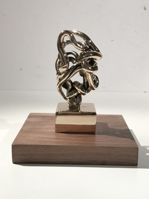 Infinitude 5 High-Polished Bronze, Walnut and Acrylic 7 1/2 × 5 1/2 × 5 1/2 in; 19.1 × 14 × 14 cm Infinitude 2017
