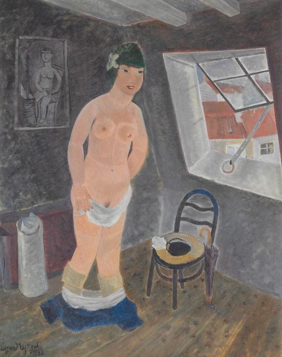 """""""Meisje op mansarde"""", 1950 (Privécollectie)"""