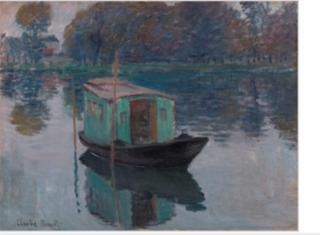 """Claude Monet, """"Le Bateau-atelier"""" (1874), Kröller-Möller Museum Nederland"""