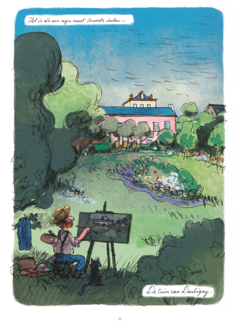 Hoe Luc Cromheecke Van Gogh ziet schilderen in Daubigny's tuin