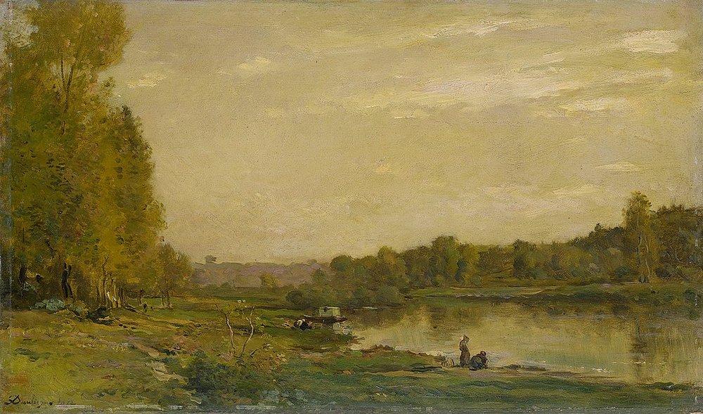 """Daubigny. """"Landschap aan de Oise"""" (1872). Rijksmuseum Amsterdam"""