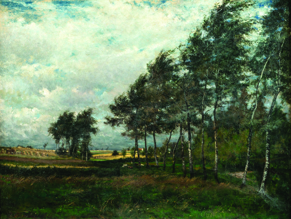 Joseph-Théodore Coosemans    (1828 Brussels-Schaerbeek 1904),    Landscape in the Countryside   , 1866. Oil on canvas, 59.8 x 78 cm, Hearn Family Trust. Courtesy of the McMullen Museum of Art, Boston College'.