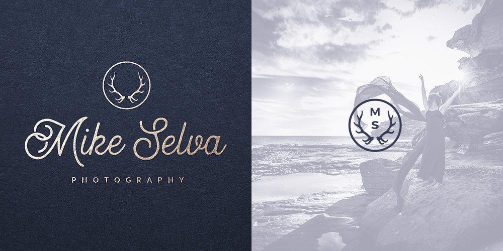 Logo and icon design for Sydney, Australia photographer Mike Selva (2017).