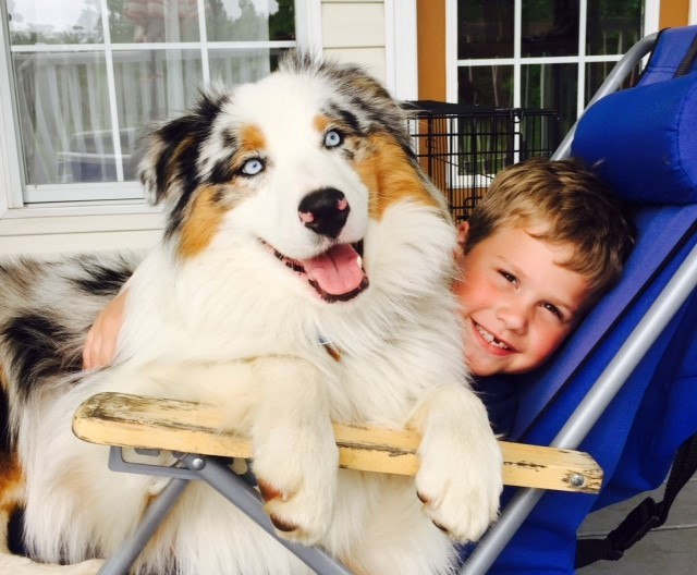 Cutter and his boy -