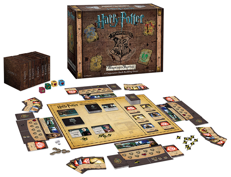 Harry Potter: Hogwarts Battle game contents, Photo © USAopoly