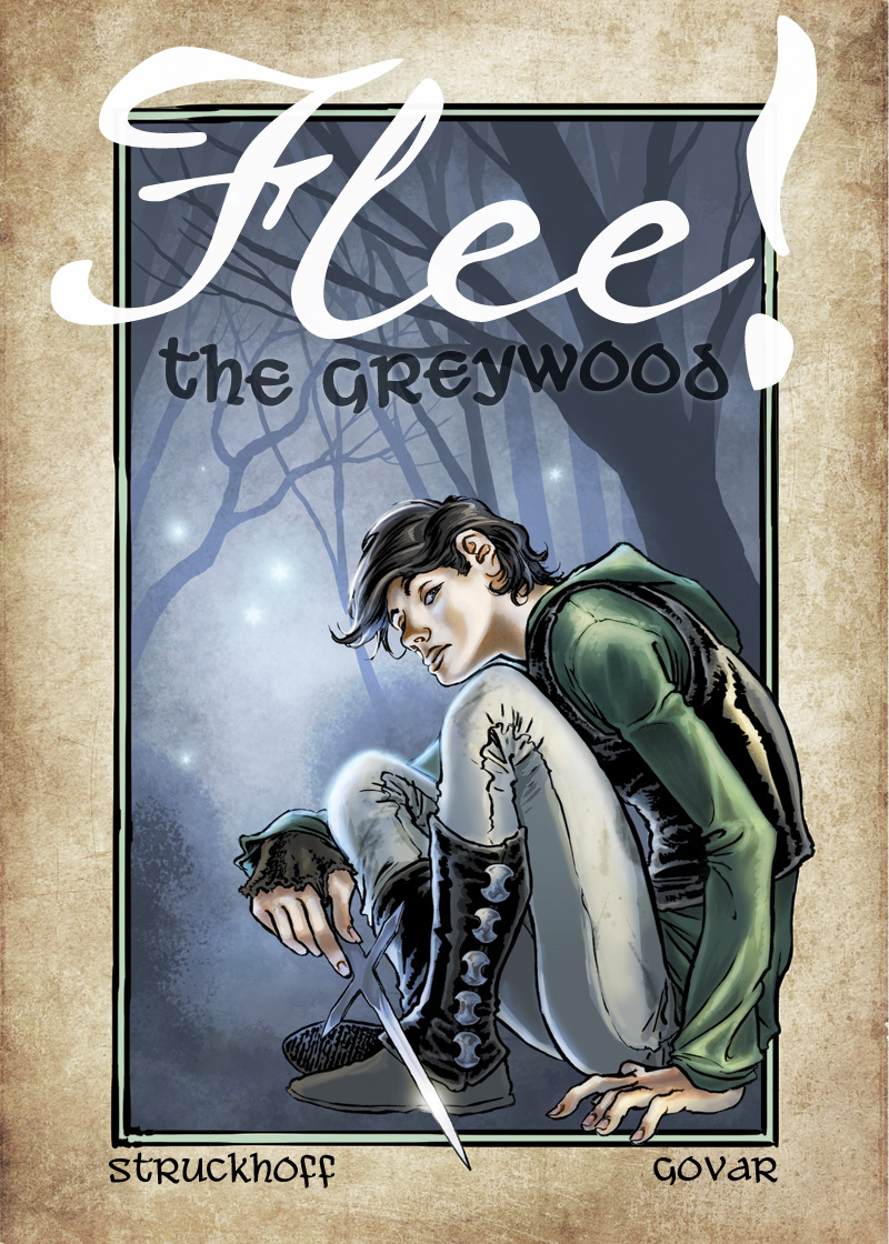 Original concept/character art for 'Flee the Greywood!' comic, created by Ian Struckhoff, art by Daniel Govar
