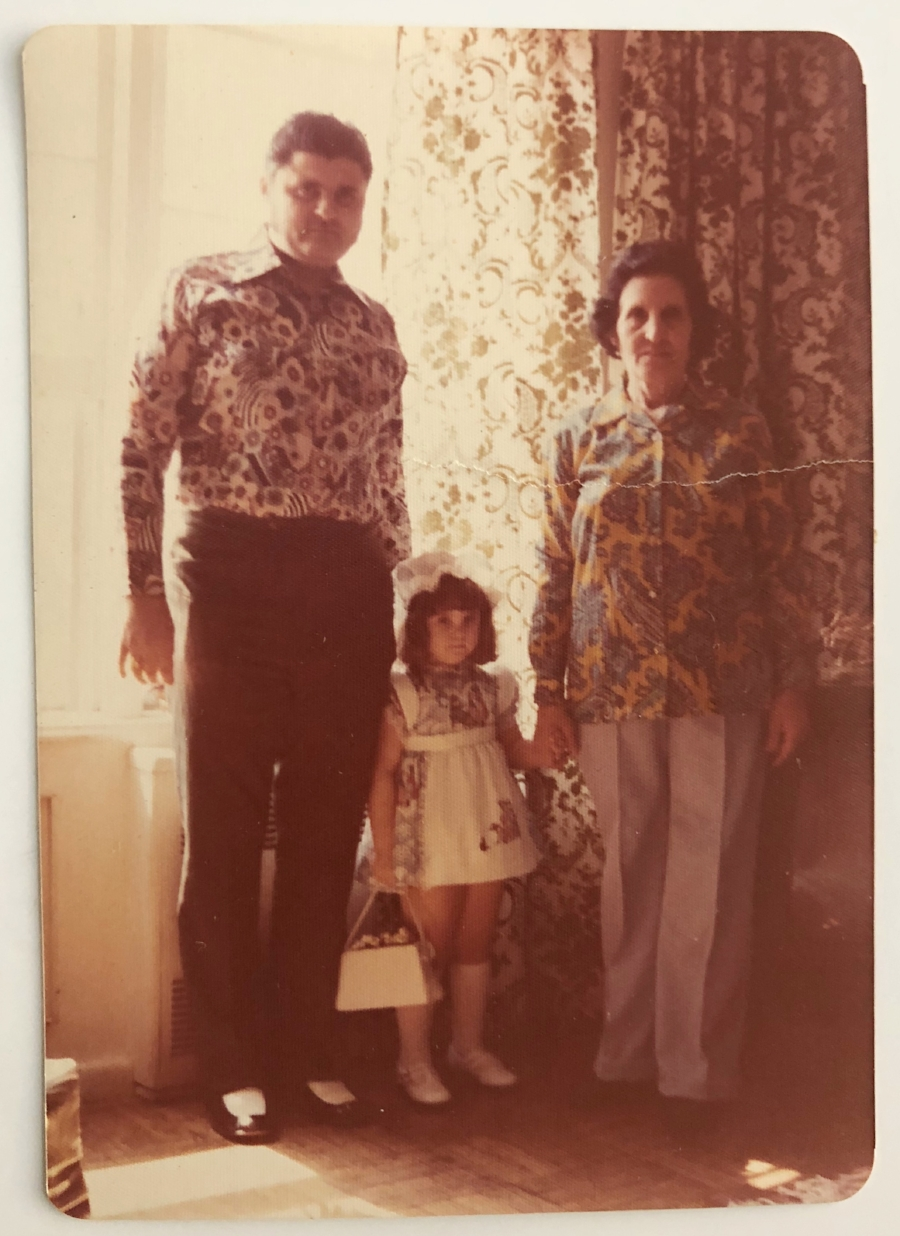 With my grandmother in Queens, New York, 1977