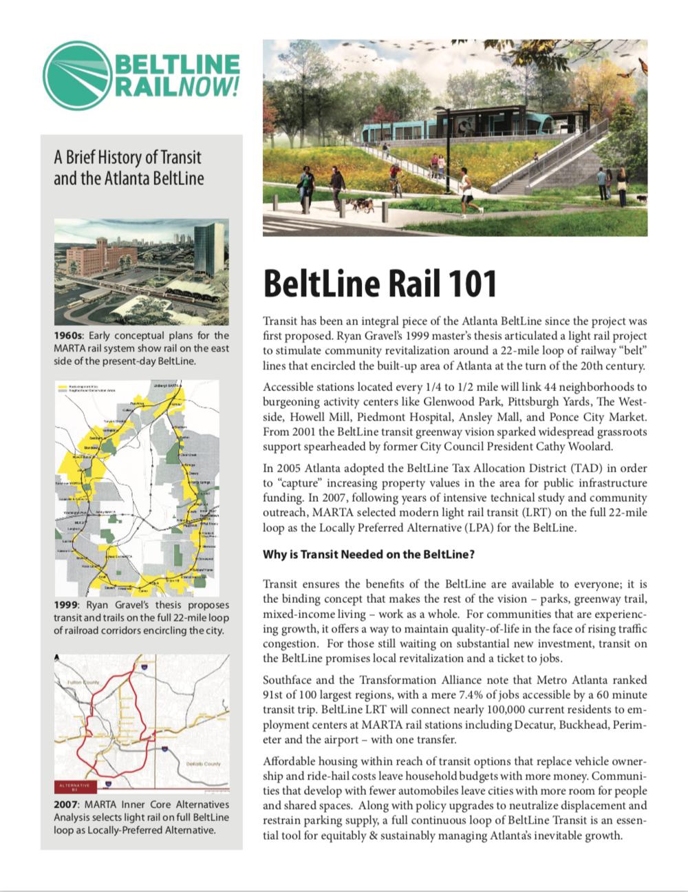 BeltLine Rail Now 101 Flyer ( Download )