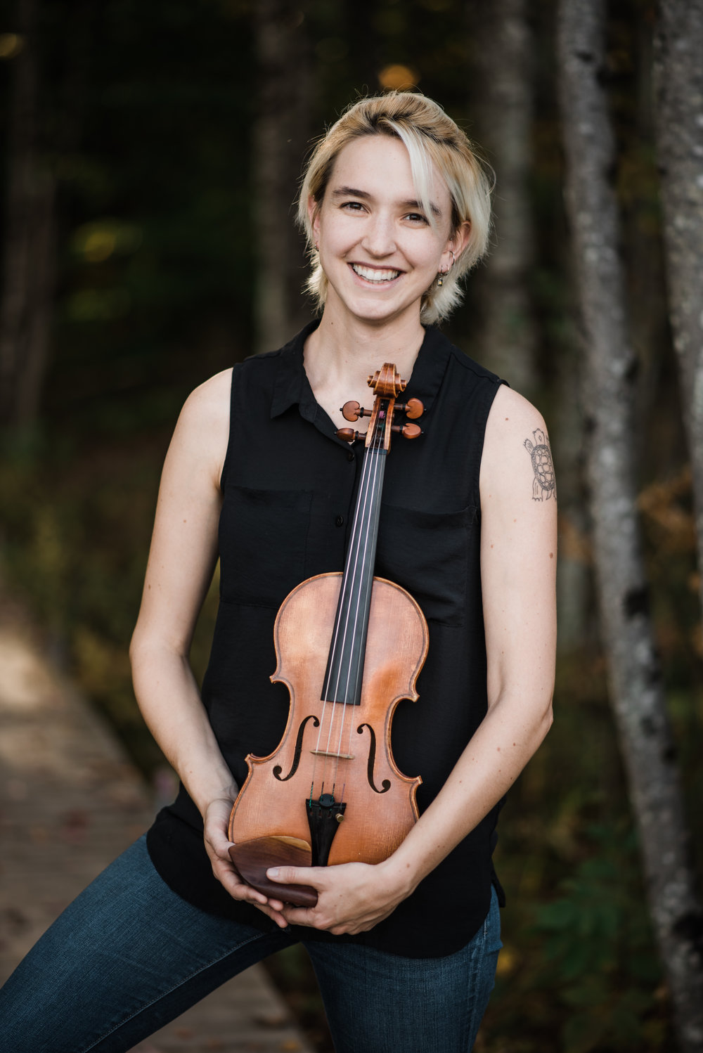Myra Hinrichs - Myra Hinrichs, violinist, is a graduate of Oberlin College and Conservatory and the Civic Orchestra training program. She has spent her summers performing in music festivals including the Barnes Ensemble, Finger Lakes Opera, Aspen Music Festival, and Spoleto USA. She is a member of Chartreuse, an ensemble devoted to performing contemporary music from around the world. She appears with other Chicago ensembles including the Morton Feldman Chamber Players, and Mocrep. She is always up for trying new kinds of music and has played shows with indy bands, folk singers, and free improvisers. In addition to performing, she teaches private lessons in the Chicago area.