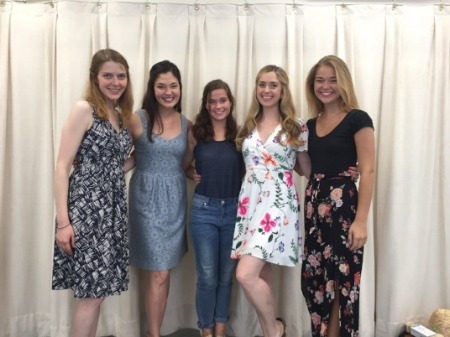 The Bennet Sisters! Pictured from left to right: Kristen Hahn, Manna Nichols, Sarah Catherine Hook, Katie Dixon and Kelly Swint.