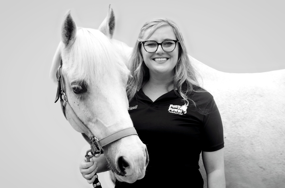 Abigail came to Pony Power as a volunteer in 2016. She grew up riding but especially appreciates the bonds and skills that are created while practicing horsemanship. Abigail is a 2016 graduate of New York University where she earned a degree in psychology paired with minors in child and adolescent psychopathology, American Sign Language and animal studies. Abigail is currently pursuing her master's degree at Columbia University's School of Social Work. She became a PATH International-certified instructor in 2018.