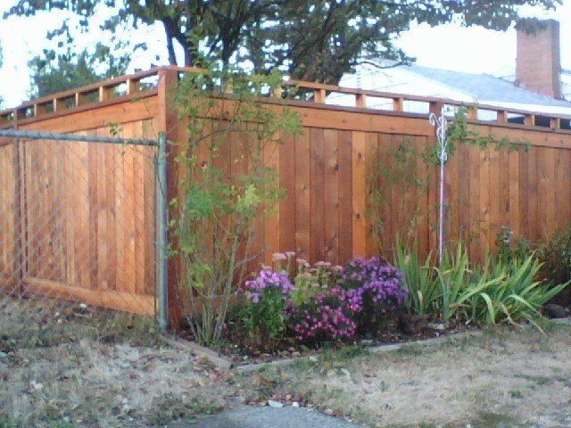 Custom Picture Frame Fence