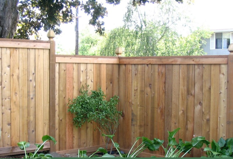 Picture Frame Fence with Gothic Posts