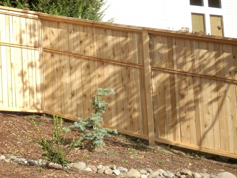 Privacy Fence with Custom Trim