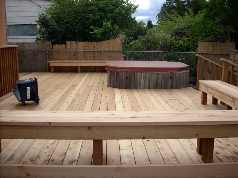 Custom Deck and Benches