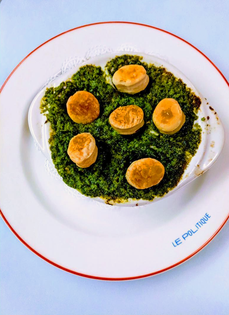 Escargot with puff pastry at Le Politique