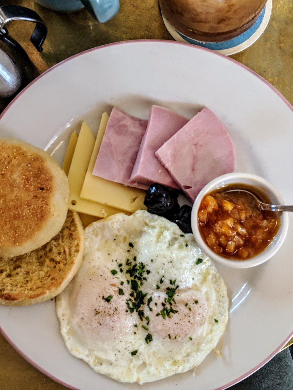 Cafe breakfast