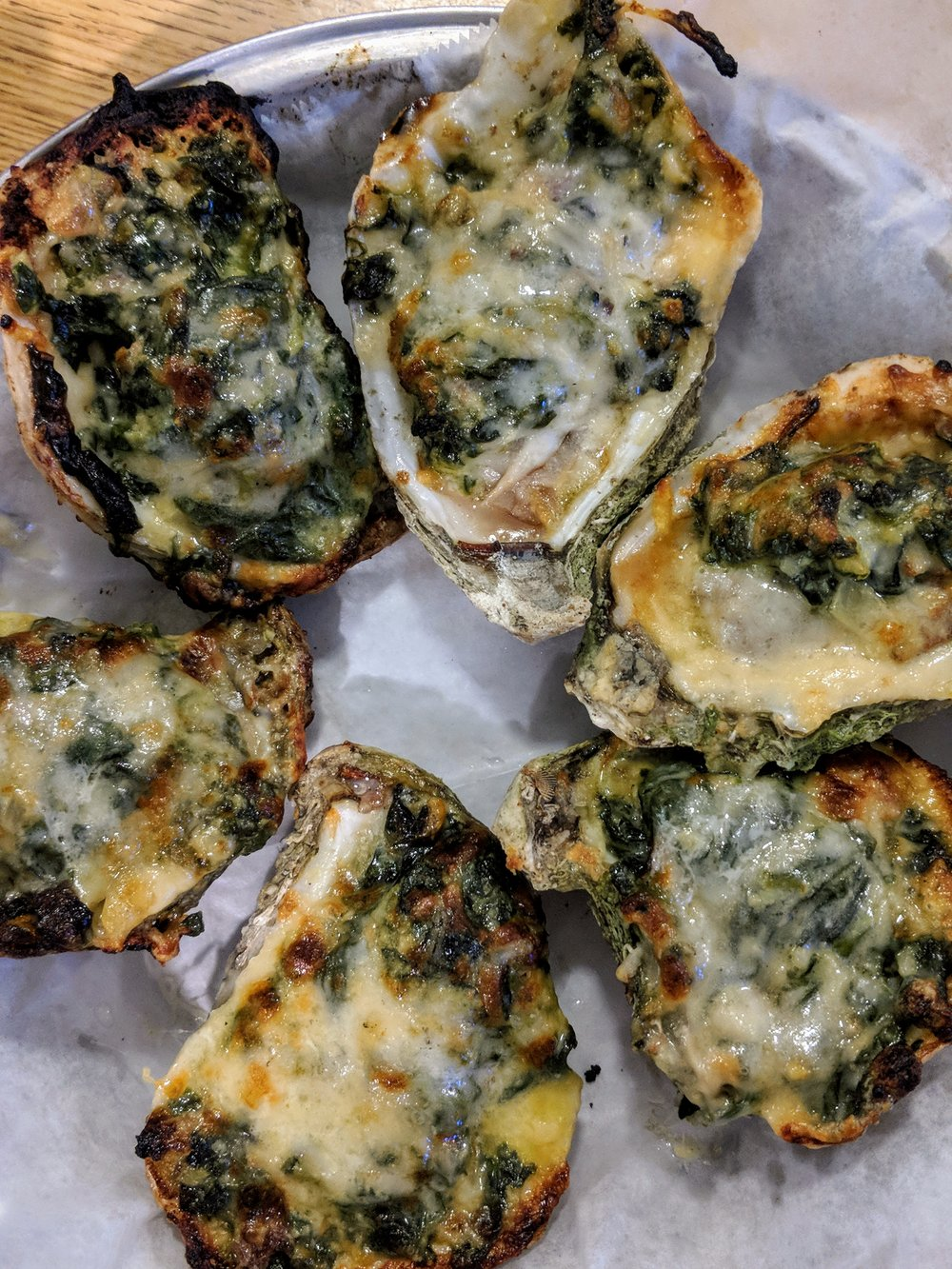 Oysters Rockefeller at Quality Seafood