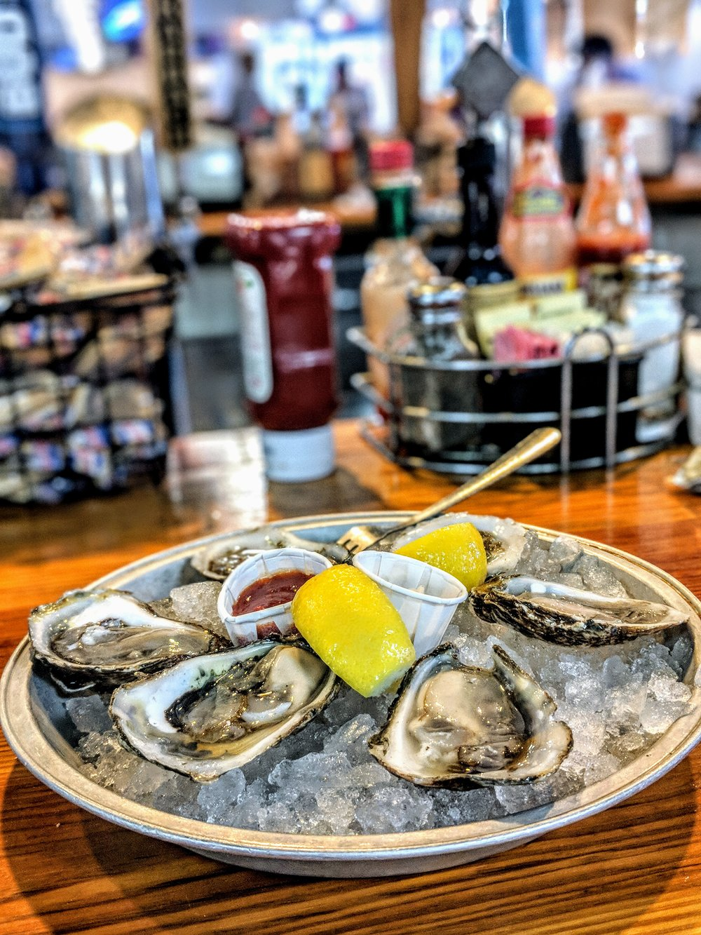 Half-dozen East Coast oysters at Quality Seafood