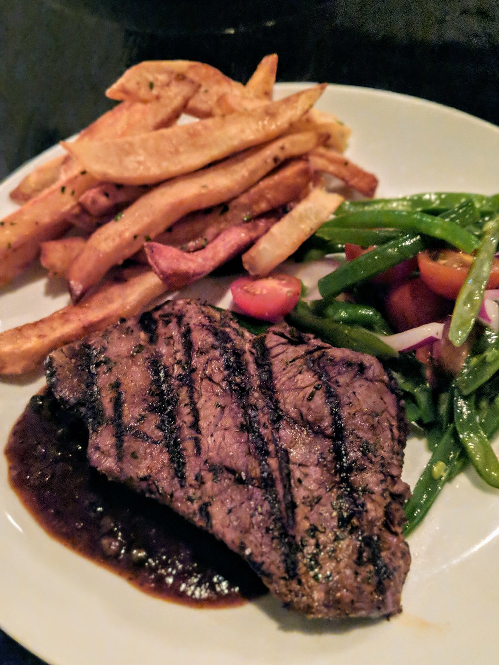 Beeman Ranch Wagyu Steak* | Haricot Vert Salad | House Made Truffle Fries