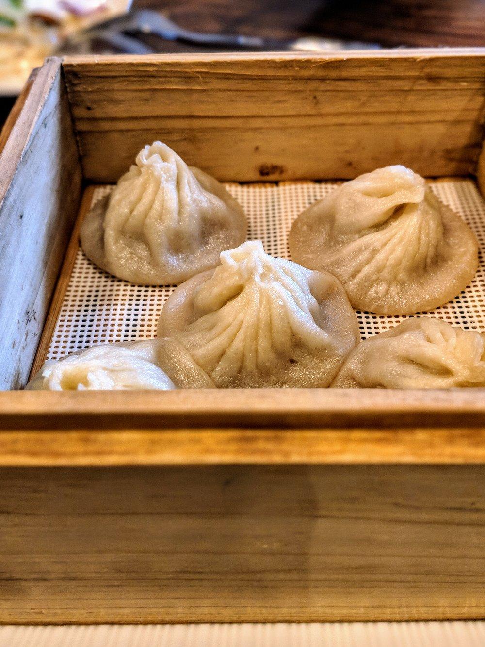 Soup dumplings at Lin Asian Bar