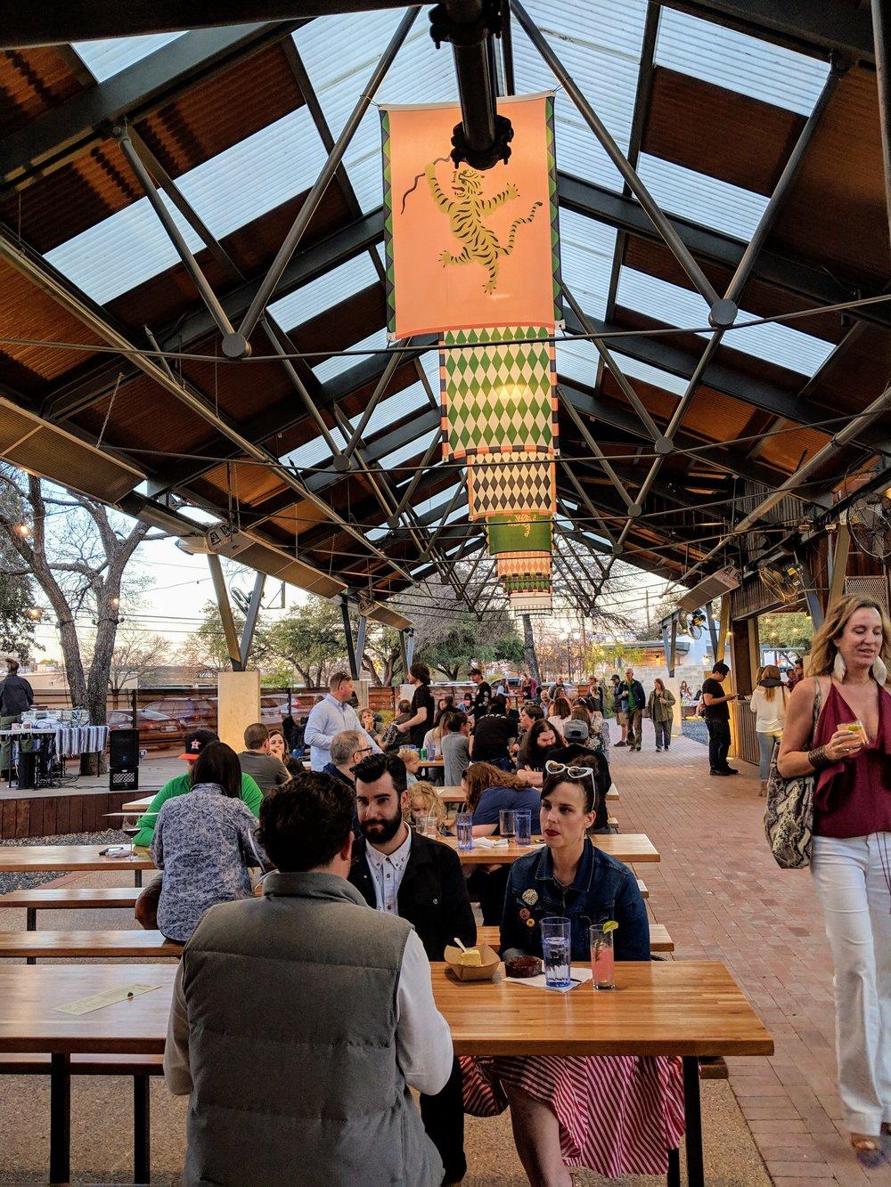 Beer Garden at Easy Tiger's Linc Location