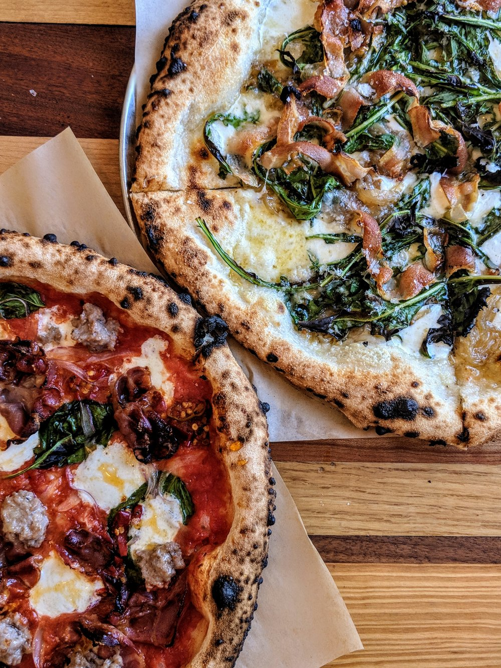 The Barbe and the Dandelion pizzas at 40 North