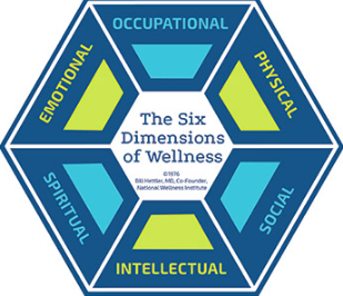 National Wellness Intitute's Six Dimentions of Wellness