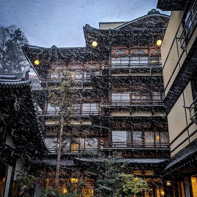 Just a short trip from raicho lodge is Shibu onsen, one of the most famous hot spring towns in Japan.  Do you recognise this building? It was used as inspiration for some of the design work in Studio Ghibli's movie Spirited Away