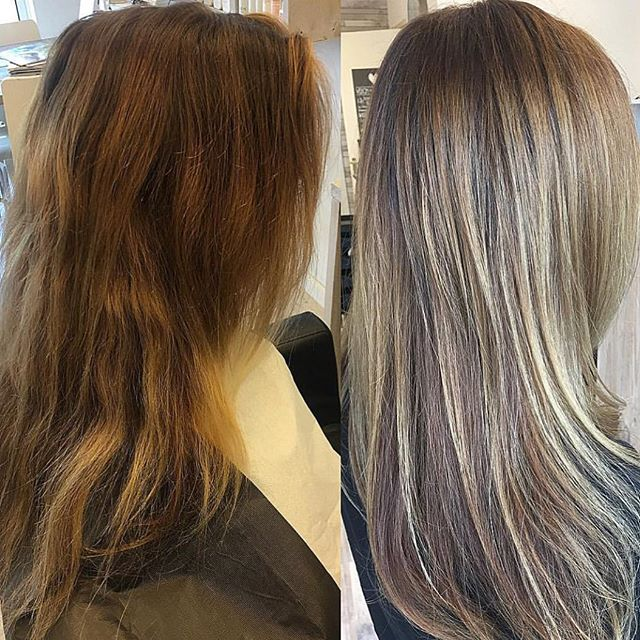 Before & After ELI Colour by @studiohaarenzo ! - -  #elicolour #beforeandafter #photoshoot #nofilter #haircolor #hairpaint #haircolour #hairdresser #behindthechair #blondehair #blonde #modernsalon #weekend #maxelieurope