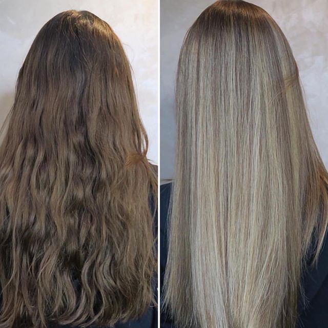 Before & After ELI COLOUR by @kimvanbennekom !  _ _  #beforeandafter #nofilter #photoshoot #haircolor #haircolour #blondehair #metamorfose #healthy #hair #hairstylist #hairblogger #hairdresser #behindthechair #modernsalon #hairpainting #elicolour #beyourbest #happyweekend #maxelieurope