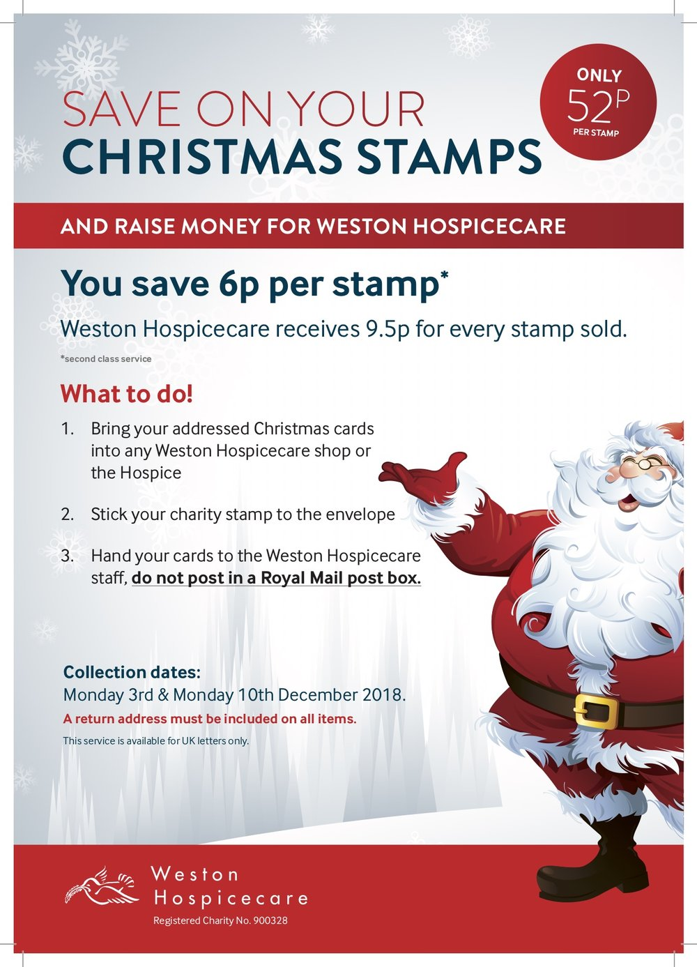 Save money on your Christmas stamps and raise money for Weston ...