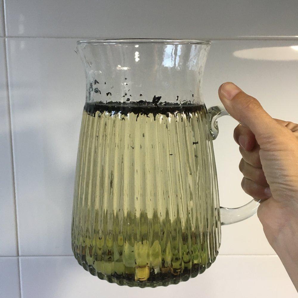 Té verde con kiwi y jengibre
