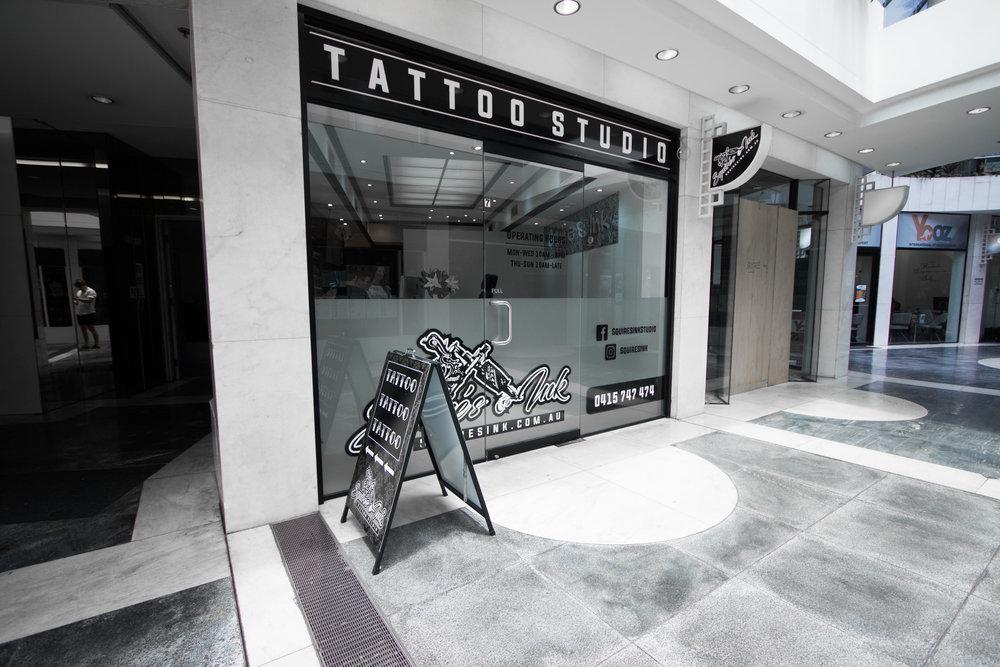 Squires Ink new studio