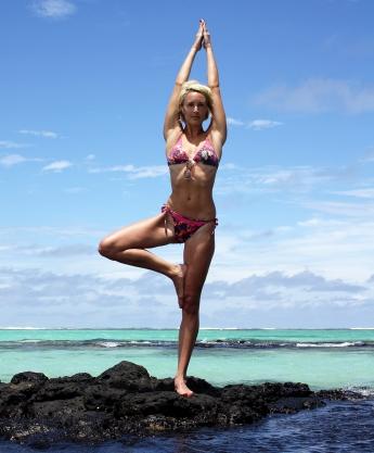 Practising some yoga...
