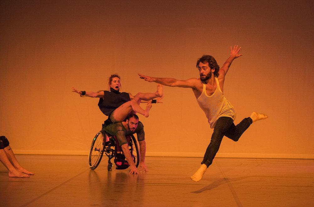 Photo: Hugo Glendinning. Dancers: Olivia Edginton, Joel Brown, Nicolas Vendange