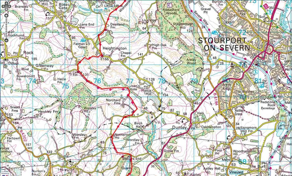 Worcestershire Way - Heightington to Shavers End