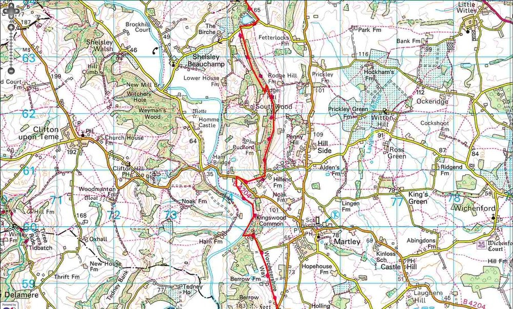 Worcestershire Way - Rodge Hill to Berrow