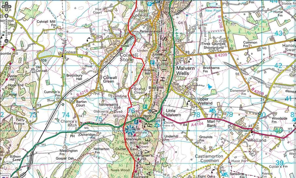 Worcestershire Way - Upper Colwall to Hangman's Hill
