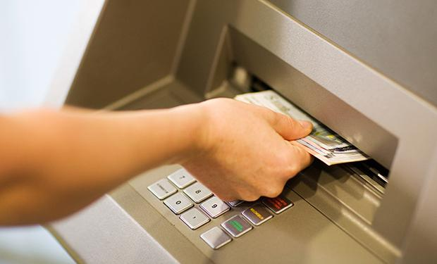Use us to withdraw cash, and deposit cash and cheques