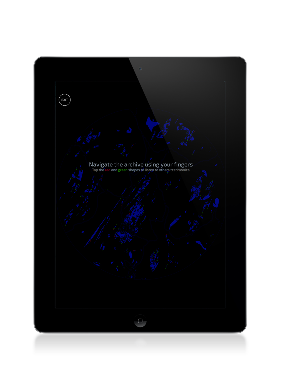 Dark Fractures - DF02 - WebApp Documentation - iPad screenshot