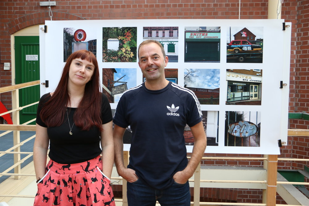 Sarah Zacharek of Wolves PhotoFest and Tom Hicks of Black Country Type