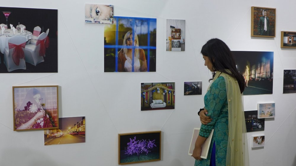 Uzma Mohsin's images on display at Punjab Lalit Kala Academy in Chandigarh - image by Kerry O'Coy