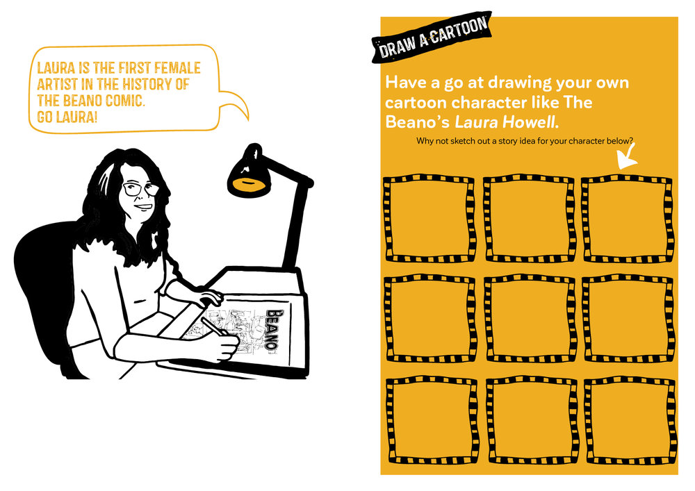 Be inspired by artist Laura Howell and make your own comic strip…